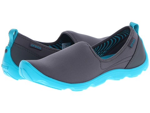 Crocs - Duet Sport Skimmer (Graphite/Turquoise) Women