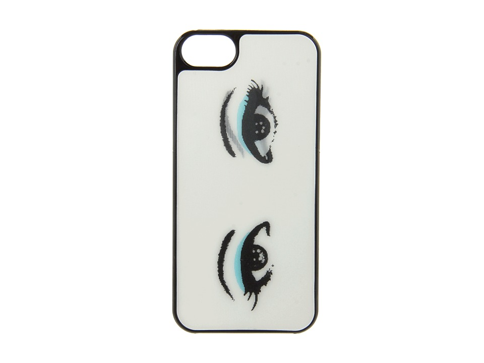 Kate Spade New York - Lenticular Eyes Blue Eye Shadow Resin iPhone 5 and 5s Case (Cream/Black) Cell Phone Case