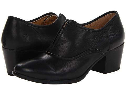 Frye - Courtney Slip On (Black Soft Vintage Leather) Women's Slip on Shoes