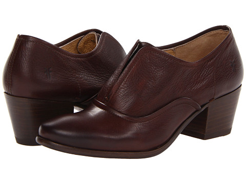 Frye - Courtney Slip On (Dark Brown Soft Vintage Leather) Women's Slip on Shoes