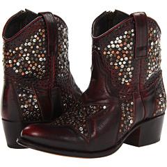 Frye Deborah Star Short (Burnt Red Brush Off) Footwear