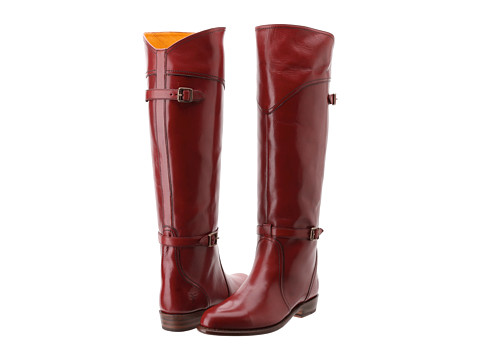 Frye - Dorado Riding (Red Smooth Polished Veg) Women's Pull-on Boots