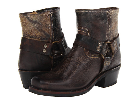 Frye - Harness 6 (Chocolate Vintage Leather) Women's Zip Boots
