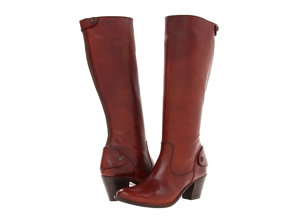 Frye - Jackie Zip Tall (Redwood Soft Vintage Leather) Cowboy Boots