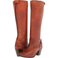 Frye Jackie Zip Tall (Spice Soft Vintage Leather) Footwear