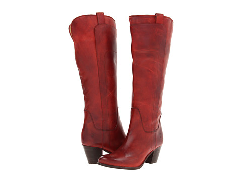 Frye - Jackie Tall Riding (Burnt Red Soft Vintage Leather) Cowboy Boots