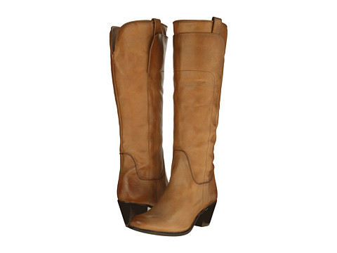 Frye - Jackie Tall Riding (Camel Soft Vintage Leather) Cowboy Boots