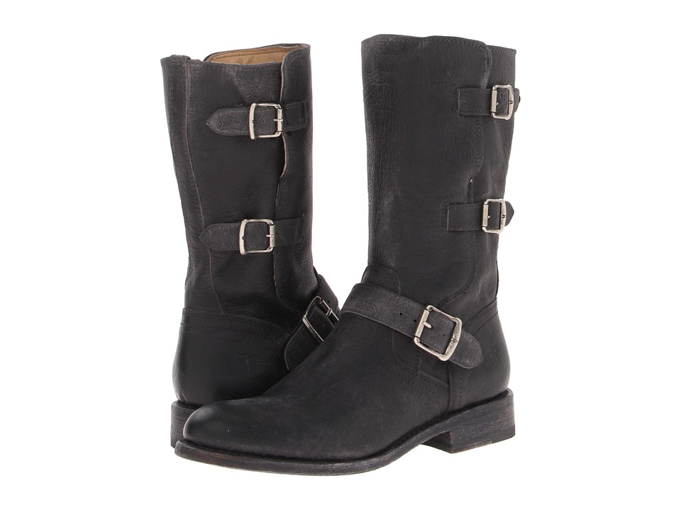 Frye - Jayden Moto Cuff (Black Stone Antiqued) Cowboy Boots