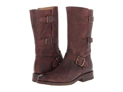Frye - Jayden Moto Cuff (Dark Brown Stone Antiqued) Cowboy Boots