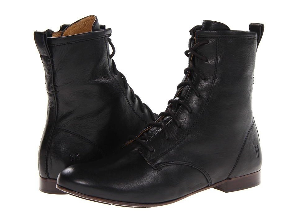 Frye - Jillian Lace Up (Black Soft Vintage Leather) Women's Lace-up Boots