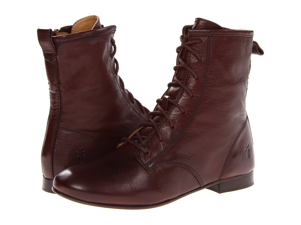 Frye - Jillian Lace Up (Dark Brown Soft Vintage Leather) Women's Lace-up Boots