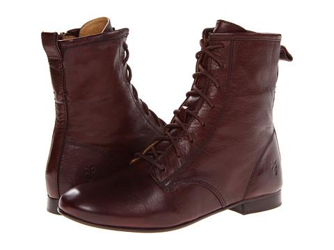 Frye - Jillian Lace Up (Dark Brown Soft Vintage Leather) Women