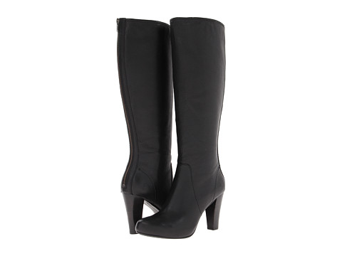 Frye - Marissa Back Zip Tall (Black Soft Vintage Leather) Cowboy Boots