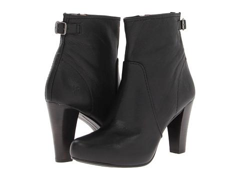 Frye - Marissa Zip Short (Black Soft Vintage Leather) Cowboy Boots