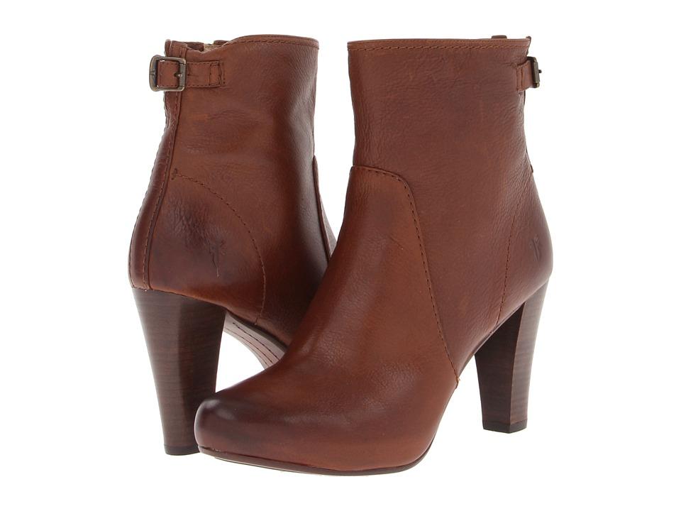 Frye - Marissa Zip Short (Cognac Soft Vintage Leather) Cowboy Boots