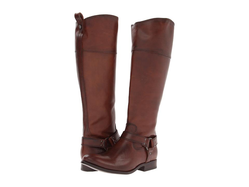Frye - Melissa Harness Inside Zip (Redwood Soft Vintage Leather) Cowboy Boots