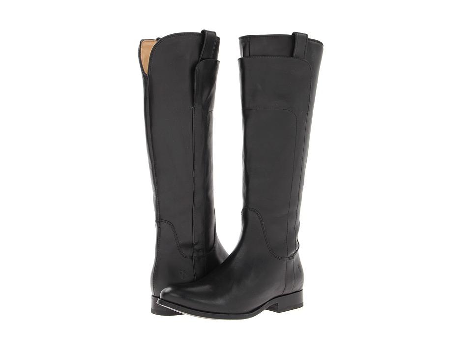 Frye Melissa Tall Riding (Black Soft Vintage Leather) Cowboy Boots