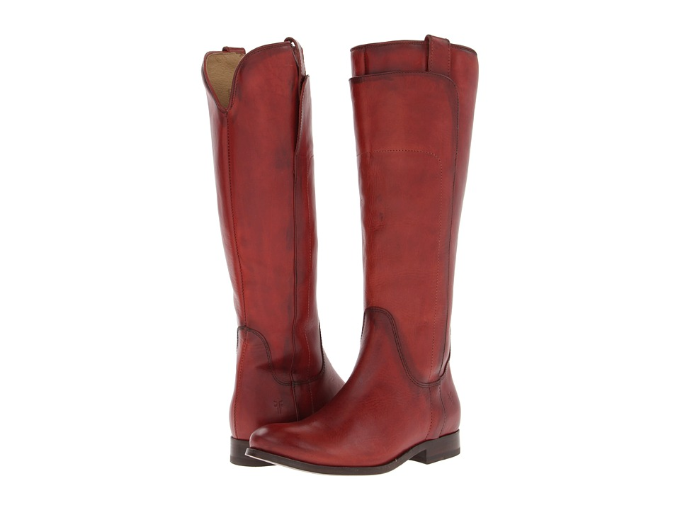 Frye - Melissa Tall Riding (Burnt Red Soft Vintage Leather) Cowboy Boots