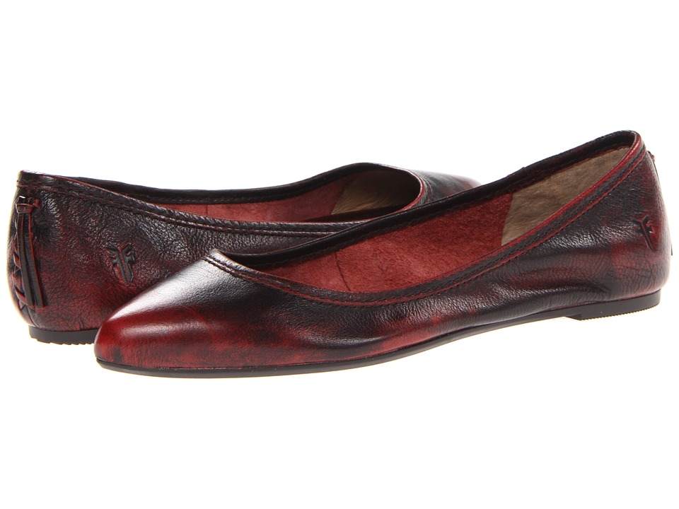 Frye - Regina Ballet (Burnt Red Brush Off) Women's Slip on Shoes