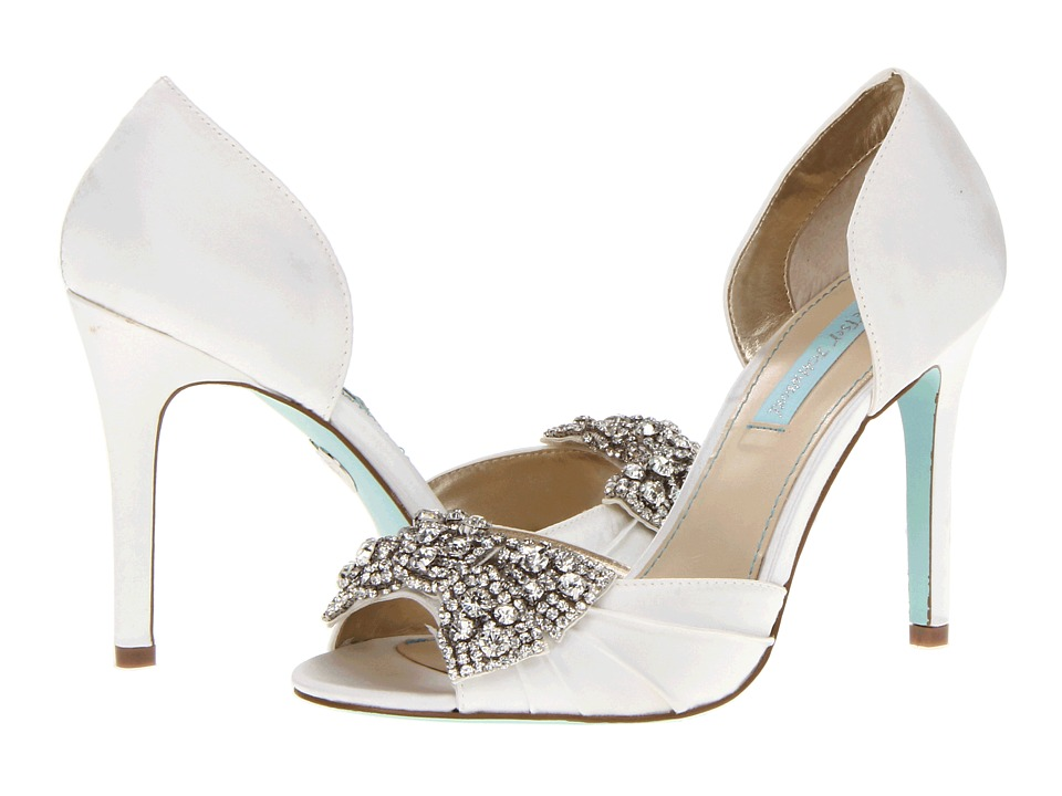 Blue by Betsey Johnson Gown (Ivory Satin) High Heels