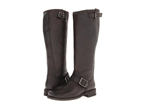 Frye - Smith Engineer Tall (Charcoal Pebbled Antique) Women