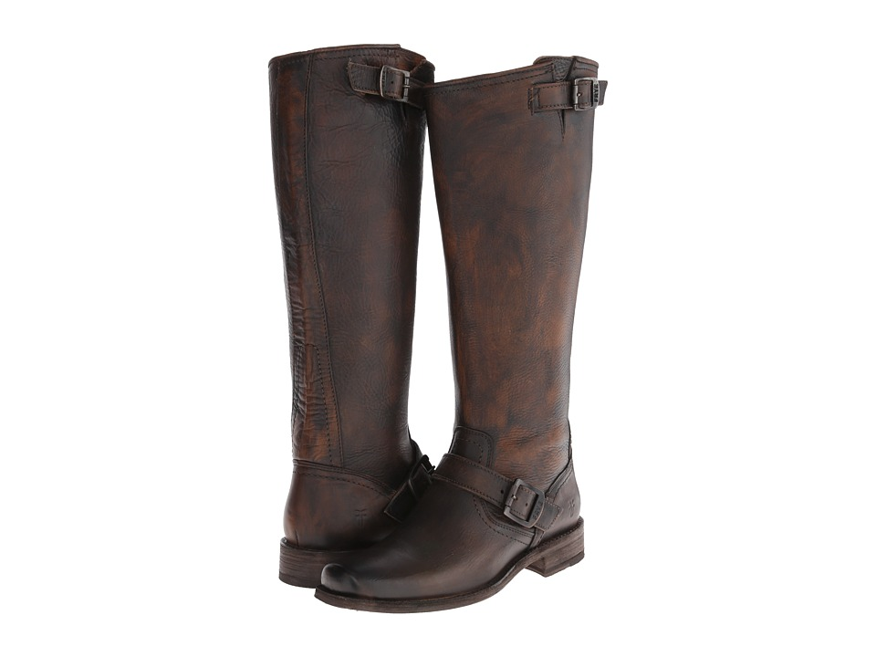 Frye Smith Engineer Tall (Tan Pebbled Antique) Women