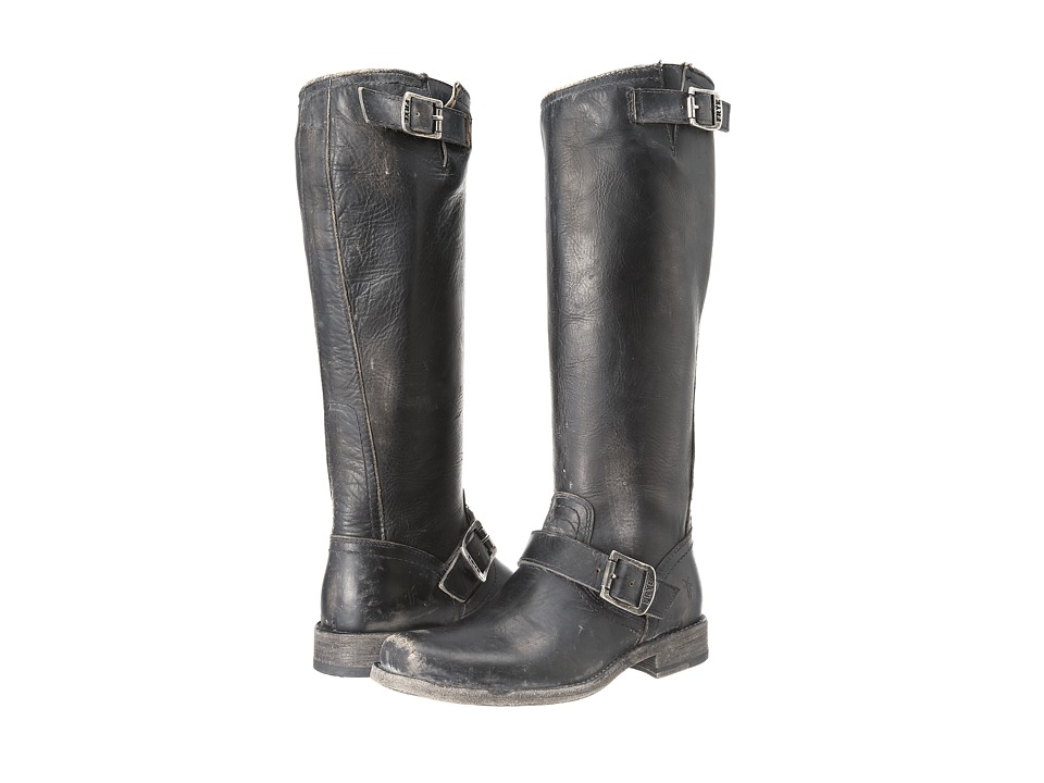 Frye Smith Engineer Tall (Black Stone Wash) Women