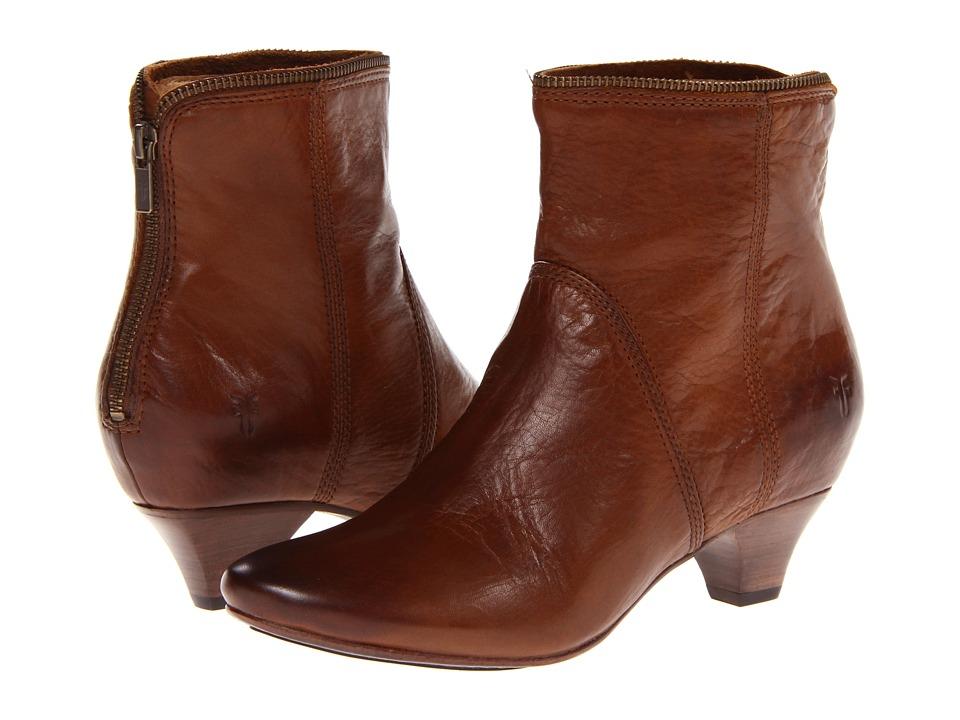 Frye - Steffi Zip Bootie (Cognac Soft Vintage Leather) Women
