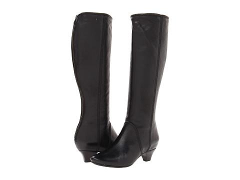 Frye - Steffi Zip Tall (Black Soft Vintage Leather) Cowboy Boots