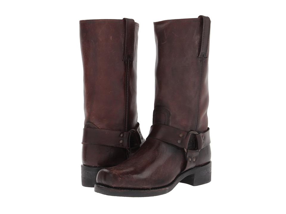 Frye - Harness 12R (Dark Brown Polished Stonewash) Cowboy Boots
