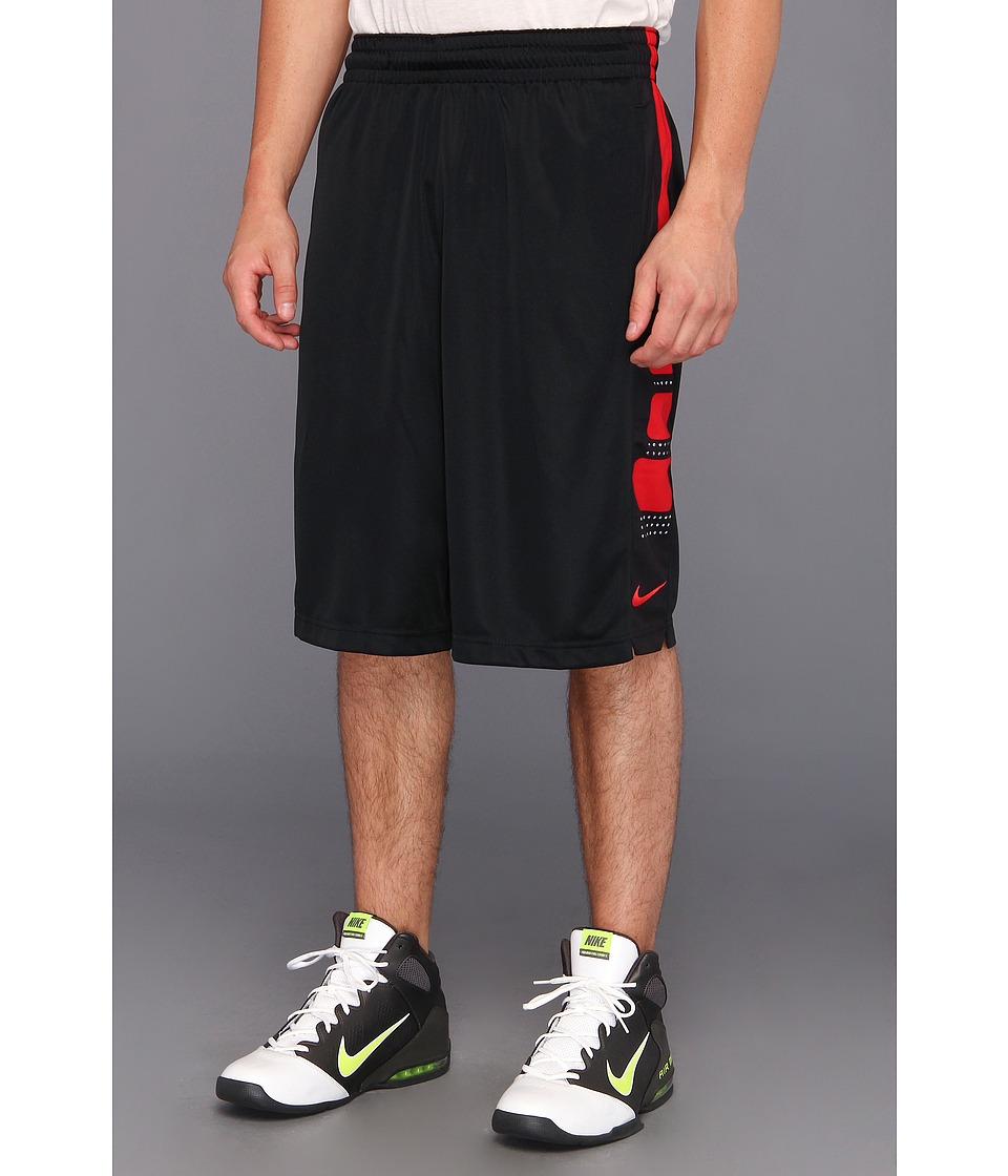 Nike - Elite Stripe Short (Black/White/University Red) Men