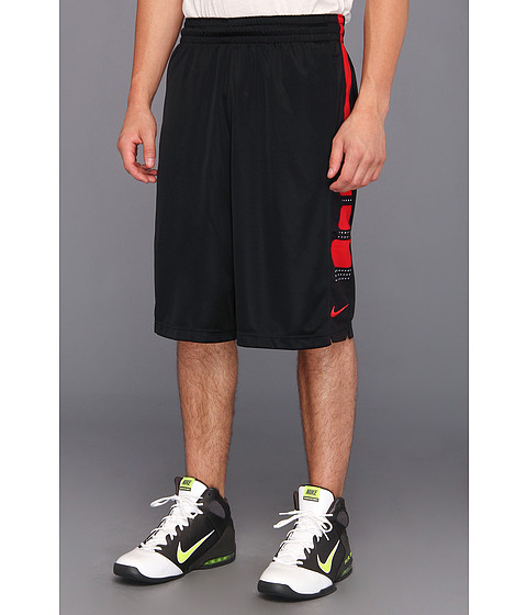 Mens Nike Elite Stripe Basketball Pants Black/White