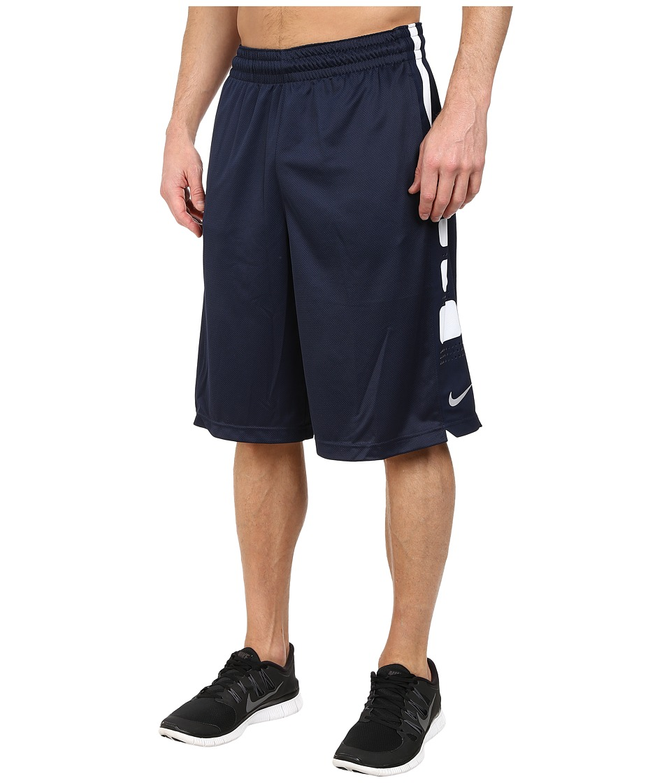 Nike - Elite Stripe Short (Obsidian/Obsidian/White) Men