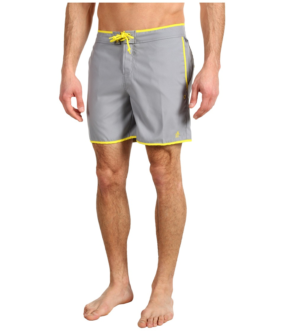 Original Penguin - Earl Volley Swim Short (Monument) Men's Swimwear