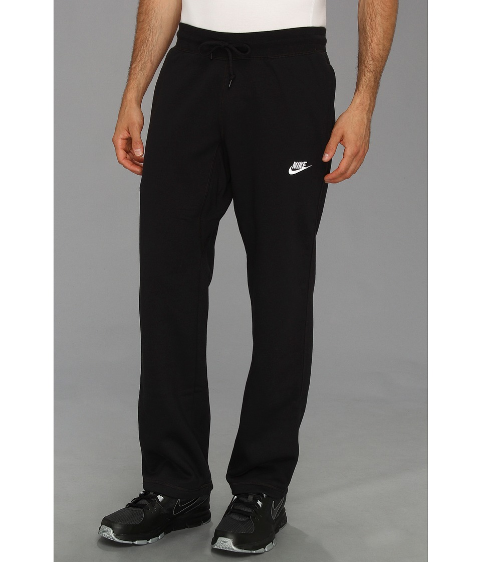 Nike - Ace Open-Hem Fleece Pants (Black/White) Men's Casual Pants