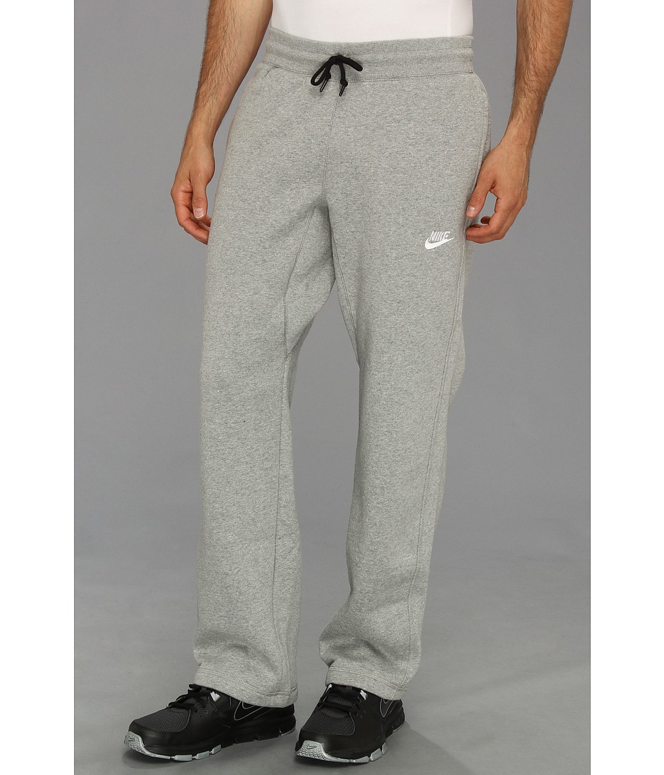 Nike - Ace Open-Hem Fleece Pants (Dark Grey Heather/White) Men's Casual Pants
