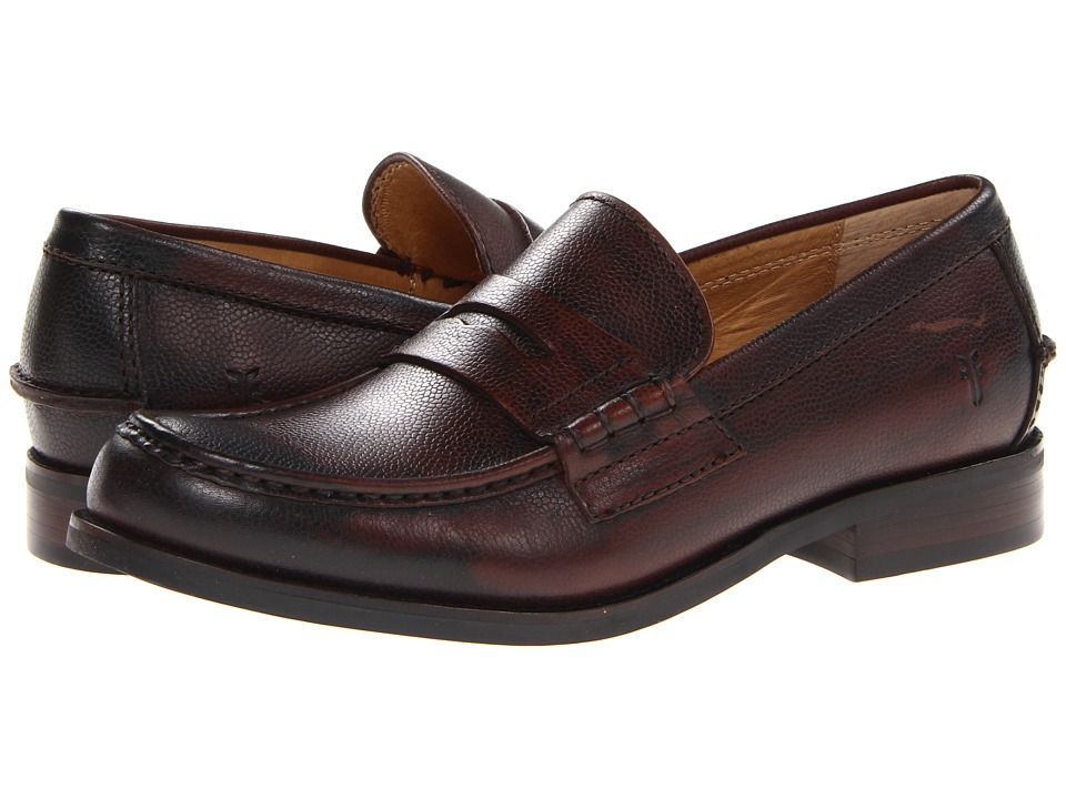 Frye - Greg Penny (Dark Brown Antique Scotch Grain) Men's Slip on Shoes