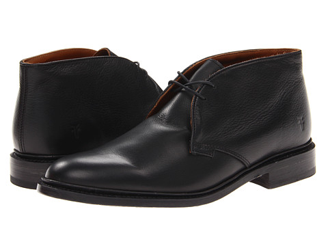Frye - James Chukka (Black Soft Vintage Leather) Men's Lace-up Boots