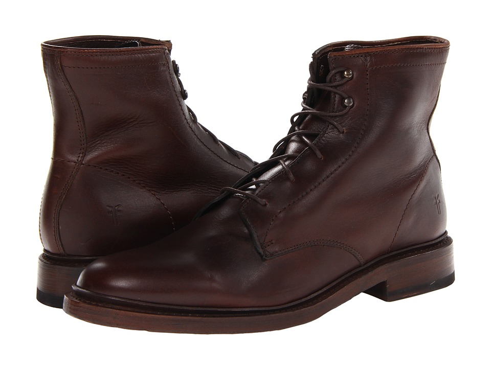 Frye James Lace Up (Dark Brown Smooth Full Grain) Men