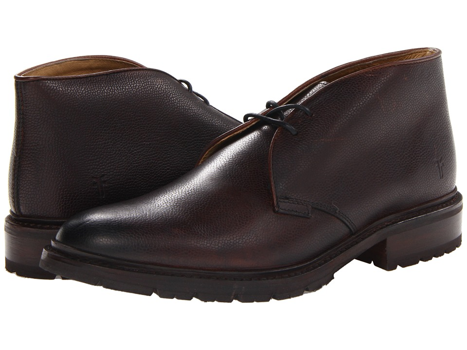 Frye - James Lug Chukka (Dark Brown Antique Scotch Grain) Men