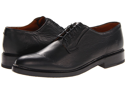 Frye - James Oxford (Black Soft Vintage Leather) Men