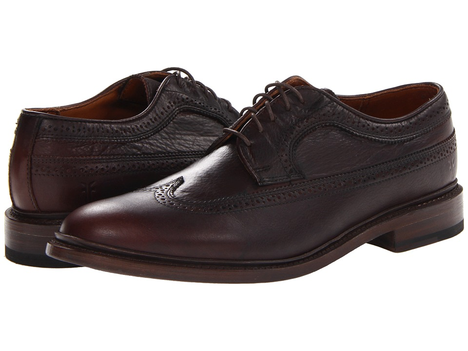 Frye - James Wingtip (Dark Brown Soft Vintage Leather) Men's Lace Up Wing Tip Shoes