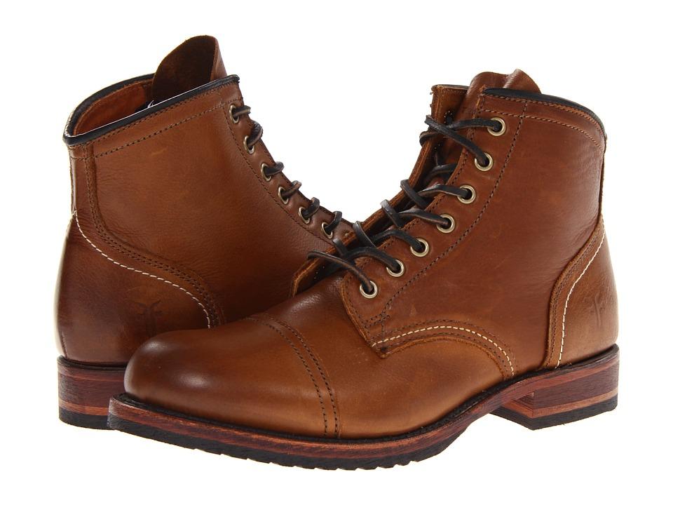 Frye - Logan Cap Toe (Cognac Soft Vintage Leather) Cowboy Boots