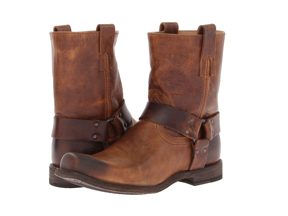 Frye - Smith Harness (Tan Antique Pull Up) Men's Pull-on Boots