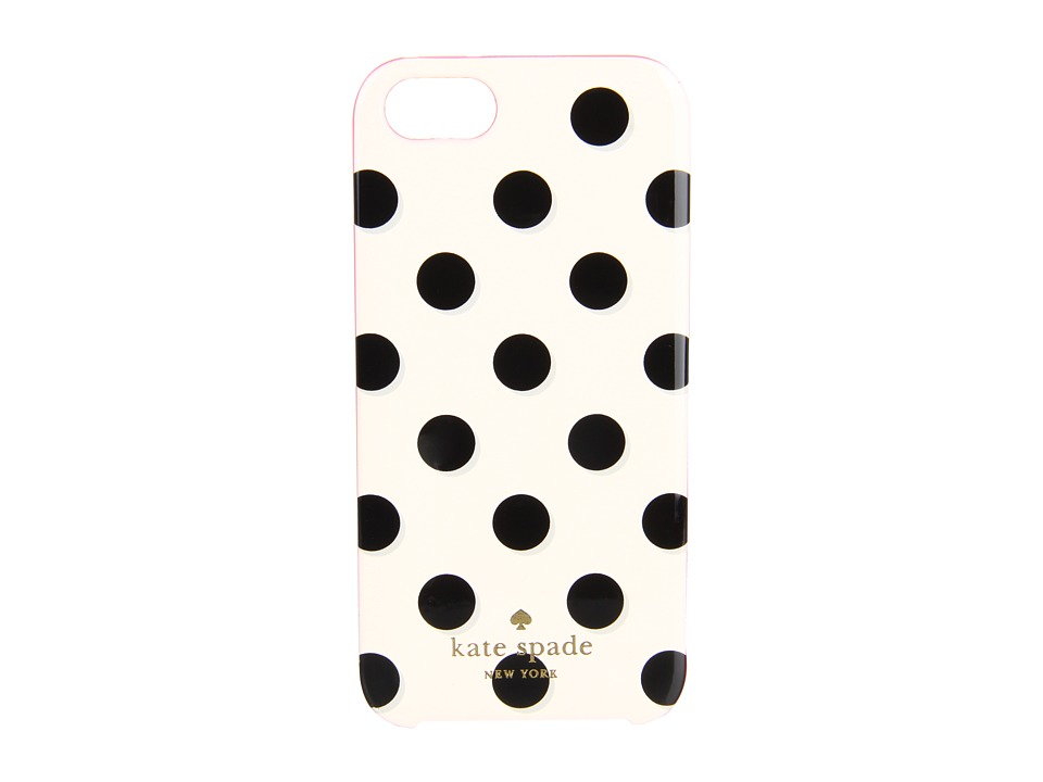 Kate Spade New York - Le Pavillion Resin iPhone 5 and 5s Case (White/Black/Pink) Cell Phone Case