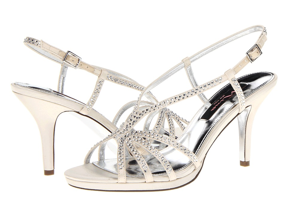 Nina - Bobbie (Ivory Satin) Women's Dress Sandals