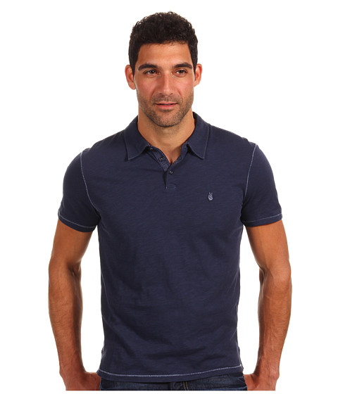 John Varvatos Star U.S.A. - Soft Collar Peace Polo K1381P1B (Oiled Blue) Men