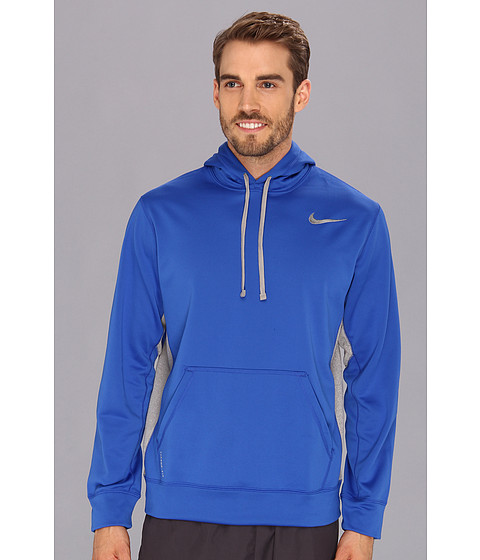Nike - KO Hoodie 2.0 (Game Royal/Dark Grey Heather/Medium Grey) Men's Long Sleeve Pullover