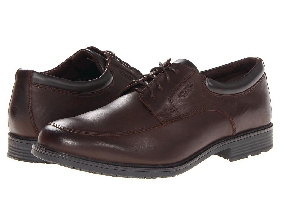 Rockport Essential Details Waterproof Apron Toe (Dark Brown) Men