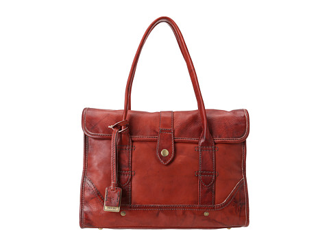 Frye - Campus Satchel (Burnt Red Dakota) Handbags